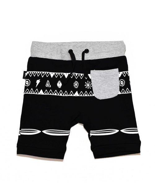 2 RD0821 RIVER SHORT in BLACK