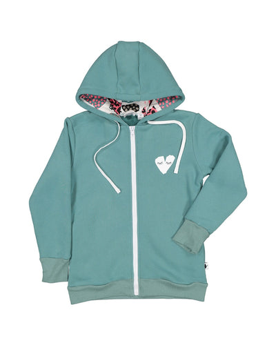 KR1209 BIG HEART ZIP HOOD