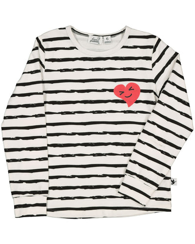 KR1401 HAPPY HEART L/S TEE