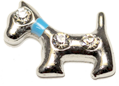 DIY Dog Design Silver Floating Charms ($0.25 each)