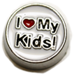 DIY I Love My Kid Design White Floating Charms ($0.25 each)