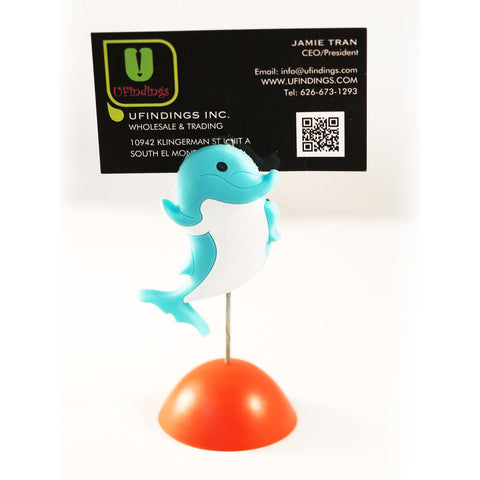 Blue Dolphin Photo / Memo / Name Card / Business Card Clip Hanger
