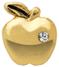 DIY Apple Design Gold Floating Charms ($0.25 each)