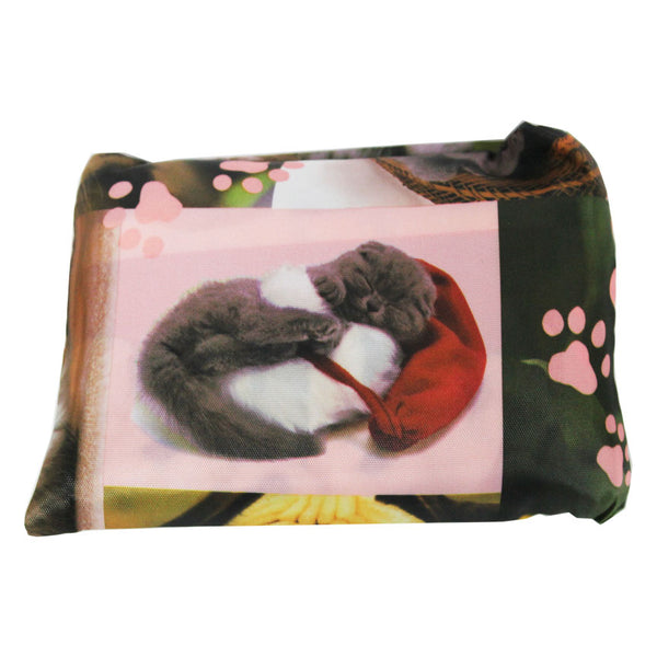 Foldable Large Size Shopping Bag - Cat and Dogs Mix Print