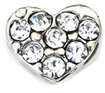 DIY Heart Design Silver Floating Charms ($0.25 each)
