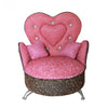 Pink Heart-Shaped Miniature Couch w/ Rhinestones Jewelry Box