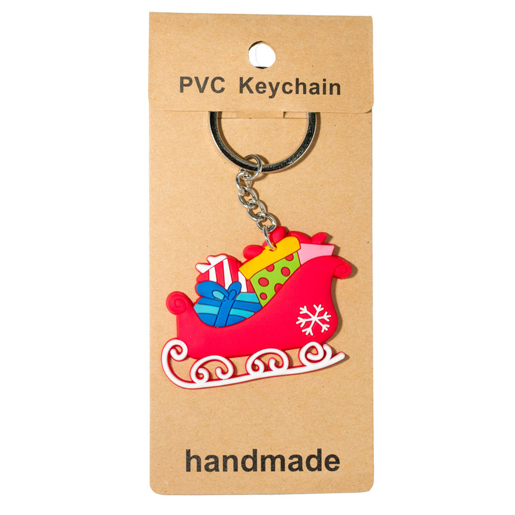 Copy of Christmas Snowman  PVC Key Chain