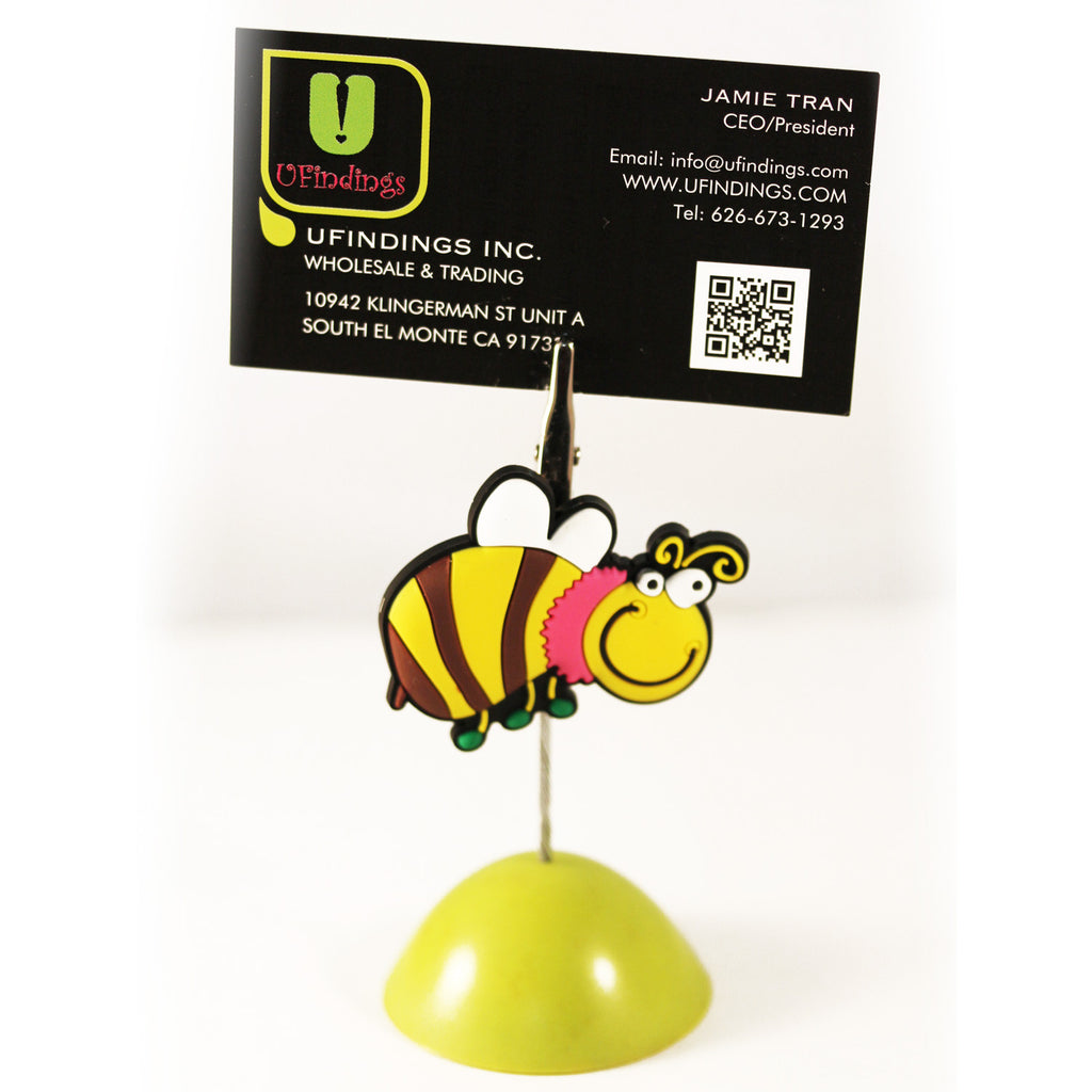 Cute Buzzing Bee Photo / Memo / Name Card / Business Card Clip Hanger