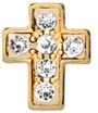 DIY Cross Design Gold Floating Charms ($0.25 each)