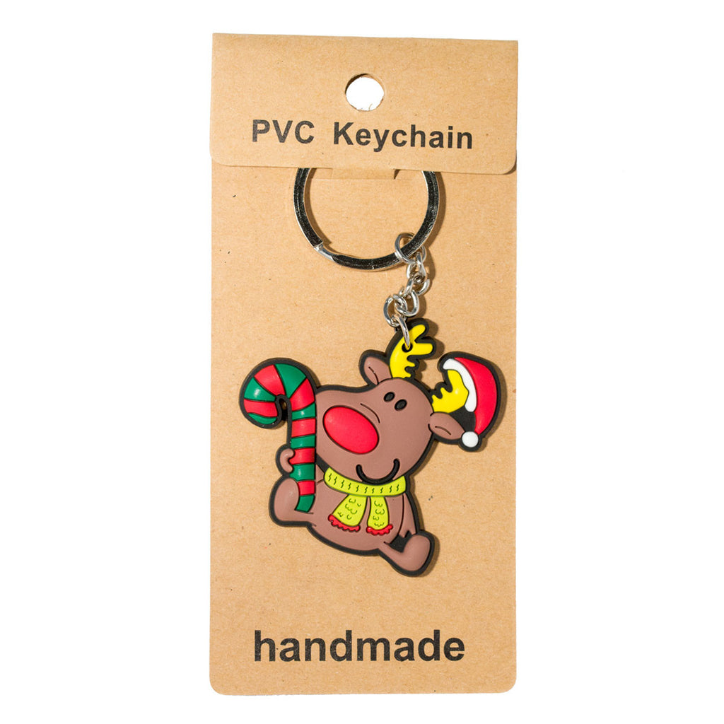 Christmas Reindeer PVC Key Chain