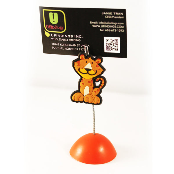 Cute Tiger Photo / Memo / Name Card / Business Card Clip Hanger