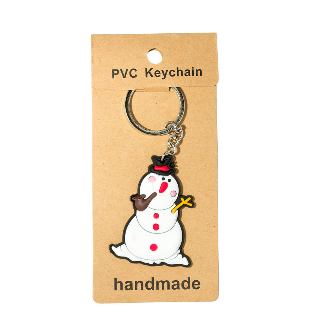 Christmas Snowman PVC Key Chain