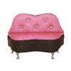 Pink Mini Couch with Rhinestones Jewelry Box