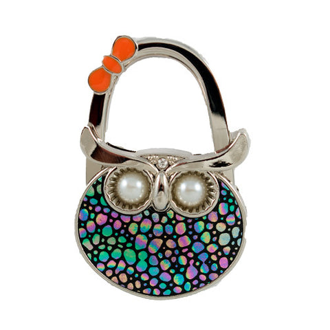 Colorful Mosaic Owl Bag Hanger