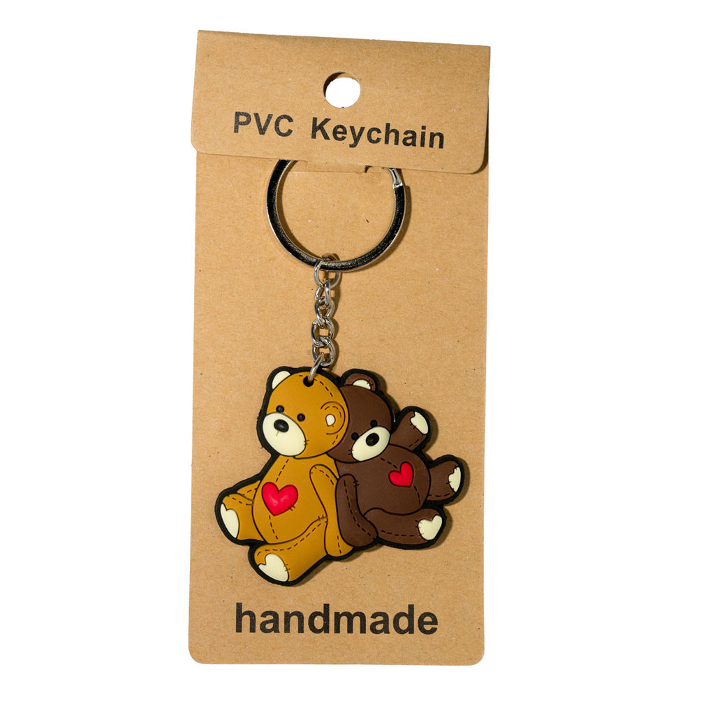 Cute Teddy Bear PVC Key Chain