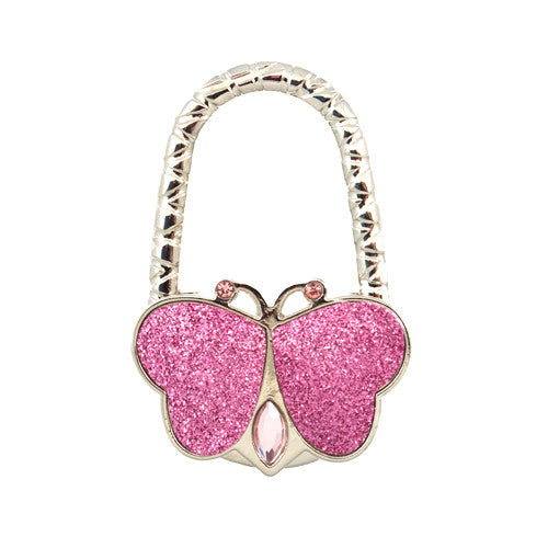 Pink Butterfly Bag Hanger