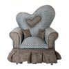 Heart-Shaped Miniature Couch Jewelry Box