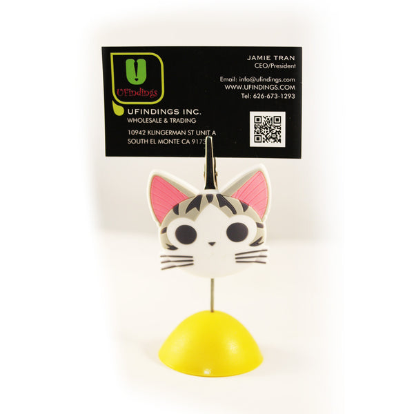 PVC Kitty Cat Photo / Memo / Name Card / Business Card Clip Hanger