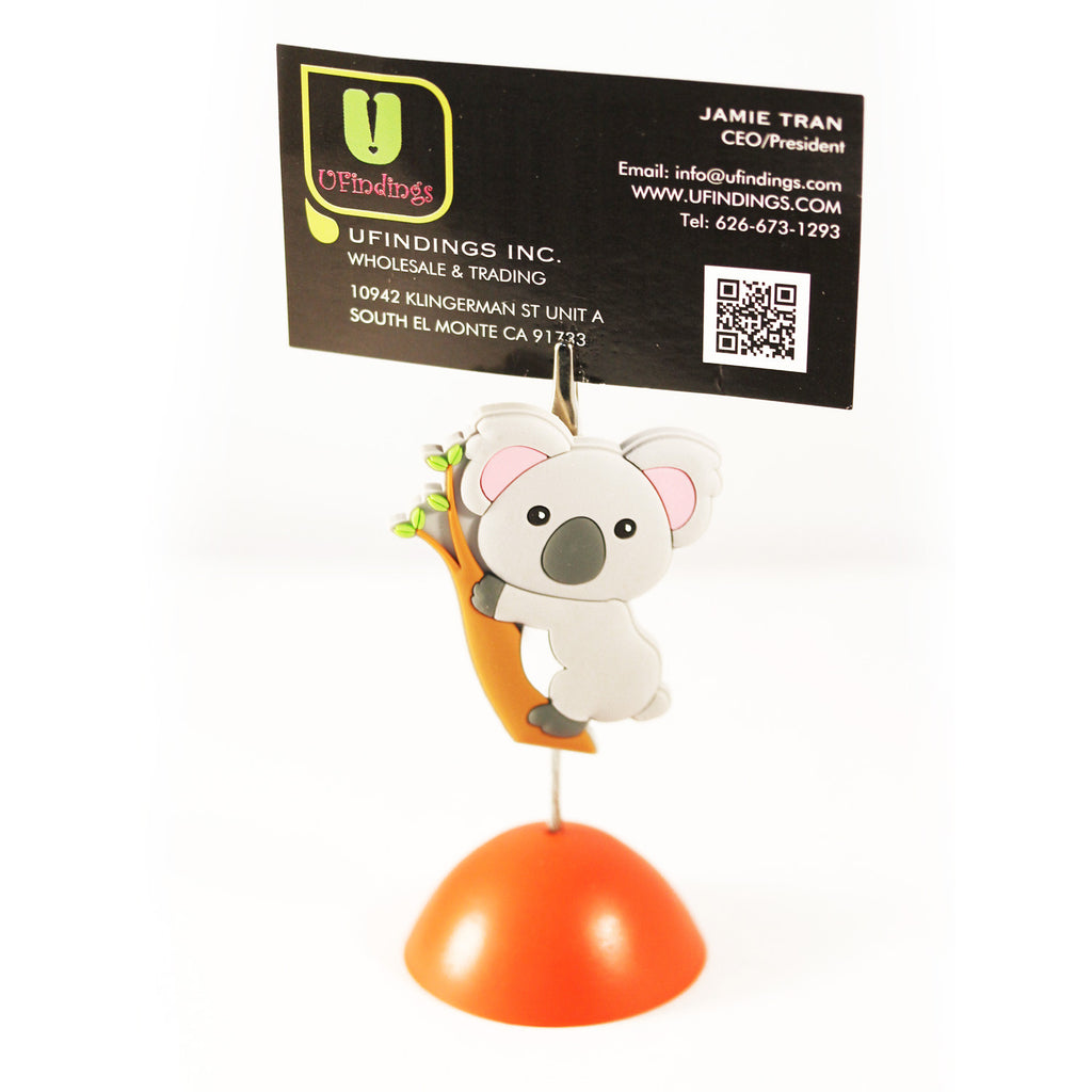 Tree Hugging Koala Bear Photo / Memo / Name Card / Business Card Clip Hanger