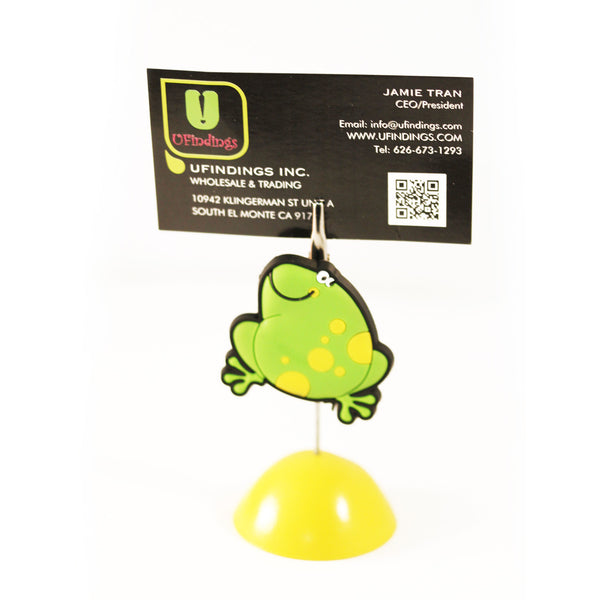 Prince Frog Bear Photo / Memo / Name Card / Business Card Clip Hanger