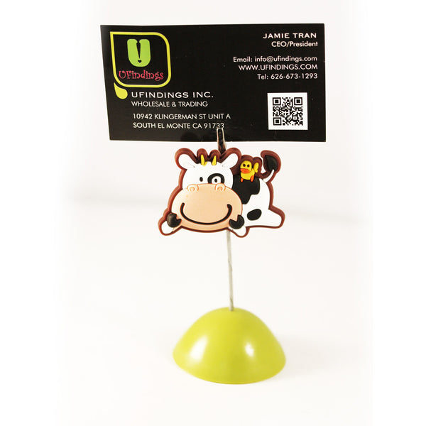 Lazy Cow Photo / Memo / Name Card / Business Card Clip Hanger