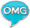 DIY OMG Design Blue Floating Charms ($0.25 each)