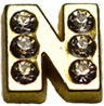 "DIY ""N"" Design Gold Floating Charms ($0.25 each)"