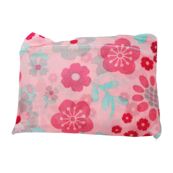 Foldable Large Size Shopping Bag - Flower Pink