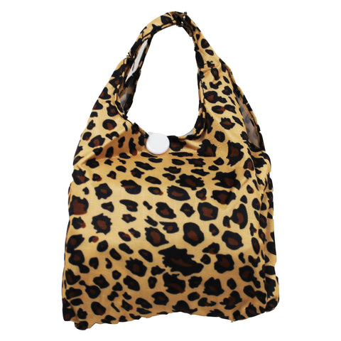 Foldable Regular  Size Shopping Bag w/ Handle - Leopard Print