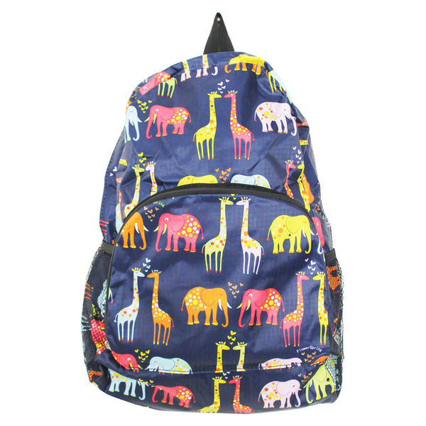 Foldable Farm Animal Print Backpack for Travel or School