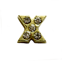 "DIY ""X"" Design Gold Floating Charms ($0.25 each)"