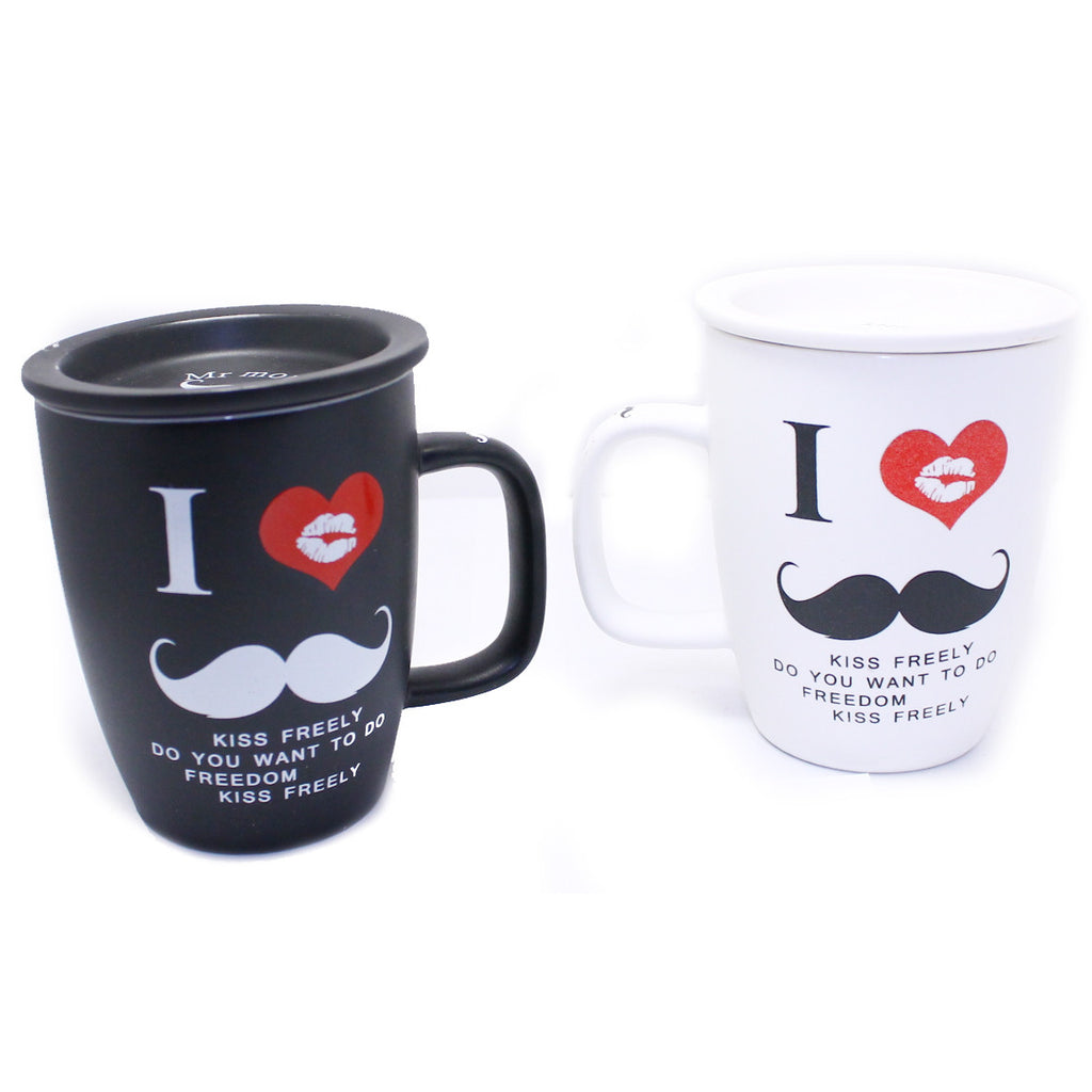 DIY I Love Moustache Design Black Mug ($15.00 each)