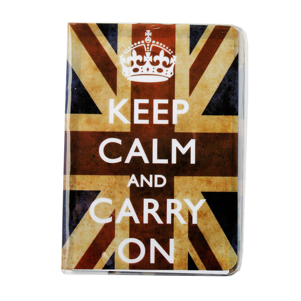 Keep Calm Great Britain Flag Passport Cover