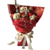Special Christmas Bear with Hat Red Theme Bouquet
