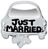 DIY Just Married Design Silver Floating Charms ($0.25 each)