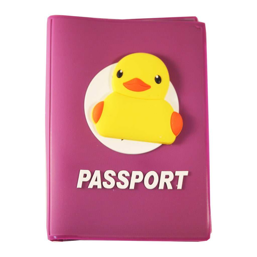 Yellow Ducky PVC Thick Passport Cover/ Holder