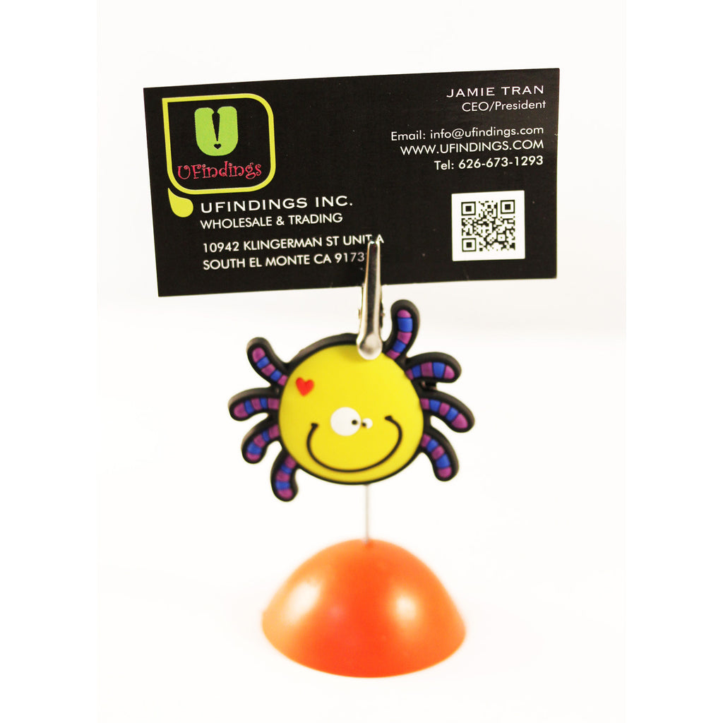 Happy Funny Spider  Photo / Memo / Name Card / Business Card Clip Hanger
