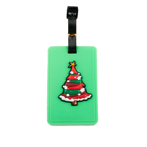 Green Christmas Tree Luggage Tag (Comes in packs of 12 - $2.50 each)