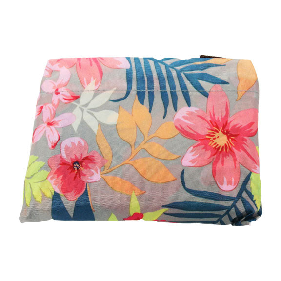 Foldable Large Size Shopping Bag - Hawaiian Flowers
