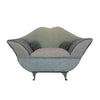 Gray Miniature Sofa Couch with Mirror Jewelry Box