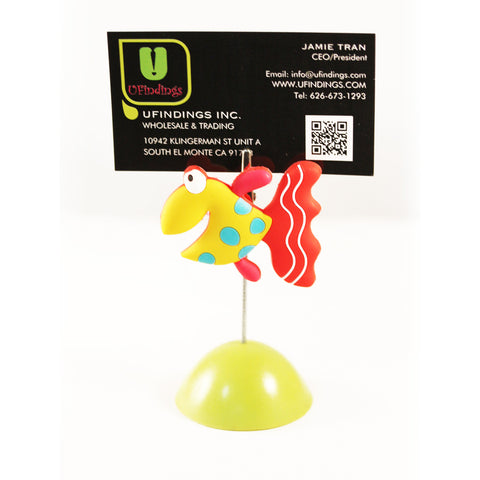 Cute Fish Photo / Memo / Name Card / Business Card Clip Hanger