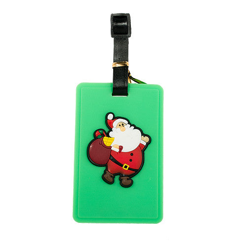 Green Santa Claus Luggage Tag (Comes in packs of 12 - $2.50 each)