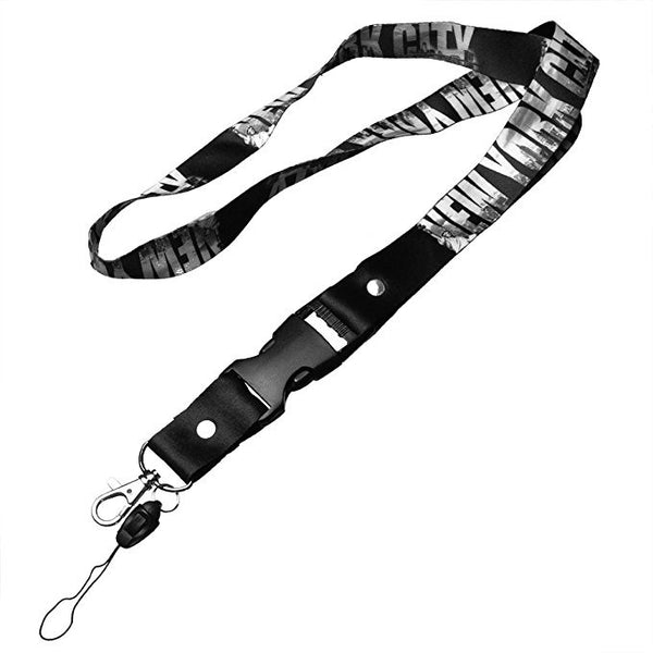 New York Black Lanyard Custom Promotional Item