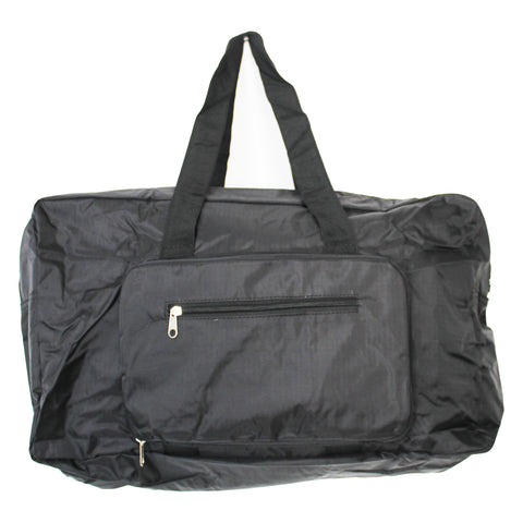 Foldable Travel Large Size Duffle Travel Bag - Plain Black