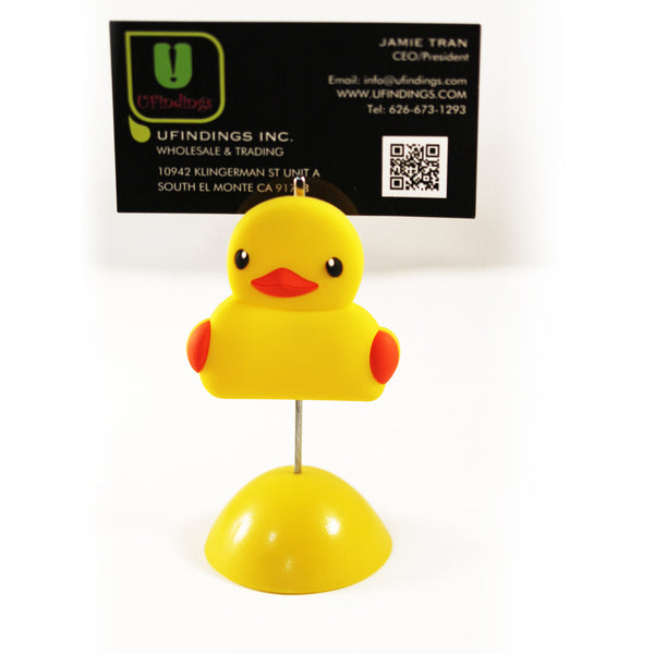 Yellow Ducky Photo / Memo / Name Card / Business Card Clip Hanger