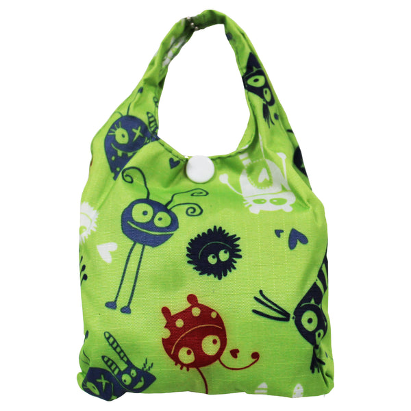 Foldable Regular  Size Shopping Bag w/ Handle - Green Monster