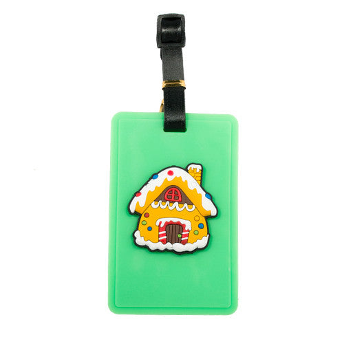 Ginger Bread Man House Luggage Tag (Comes in packs of 12 - $2.50 each)