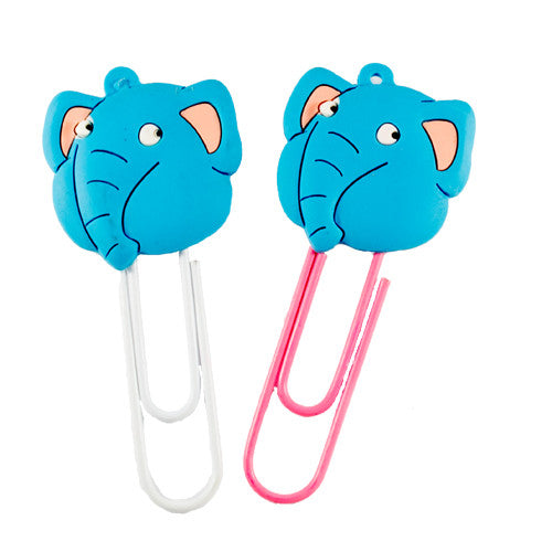 Medium Blue Elephant Bookmark