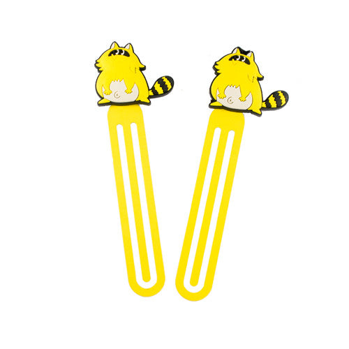 Large Yellow Raccoon Bookmark