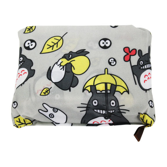 Foldable Large Size Shopping Bag - Totoro Cat Grey
